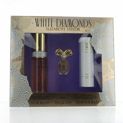 Elizabeth Taylor White Diamonds 30ml EDT/3.7ml Mini/30ml Talc