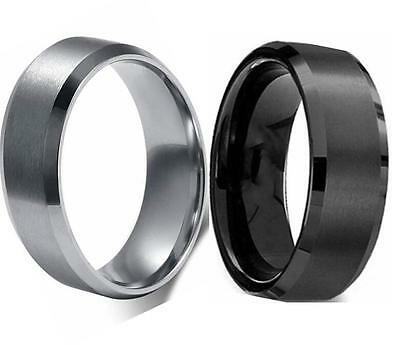 50x MIX Silver Black Classic Band Rings Top quality Men Stainless Steel Rings