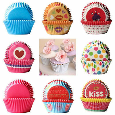 100Pcs Cake Muffin Pastry Cupcake Baking Wrapper Case Liner DIY Mould Home Party