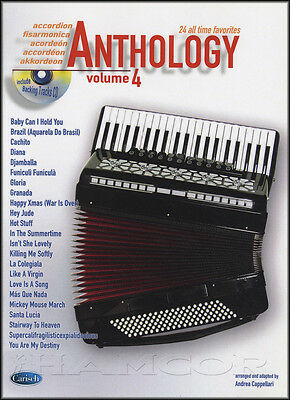 Anthology for Accordion 4 Sheet Music Book/CD 30 All Time Favorites