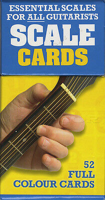 Scale Cards Essentials for All Guitarists 52 Full Colour TAB Guitar Flashcards