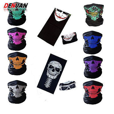 Gothic Multiway Wear Skull Skeleton Scarves Face Mask Wrap Shawl Neck-wrap Magic