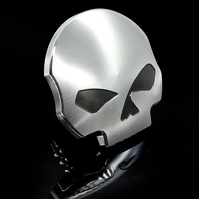 Punk Skull Fuel Gas Tank Cap Cover for Harley Touring Dyna Softail Sportster