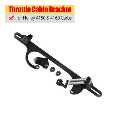 Black Throttle Cable Bracket Fits Holley 4150 & 4160 Carbs Aluminum Universal