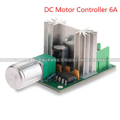 DC Motor Speed Control Pulse Width Modulation PWM Controller Switch 6A 6V-12V