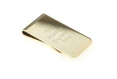 Personalised Gold Money Clip - Engraved With Your Message