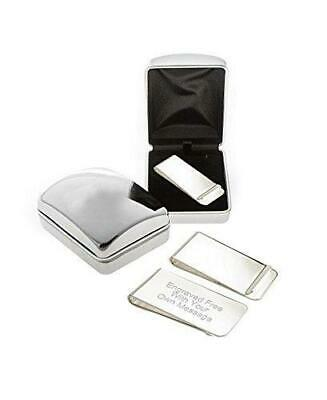 Personalised Silver Money Clip With Chrome Case - Money Clip Engraved