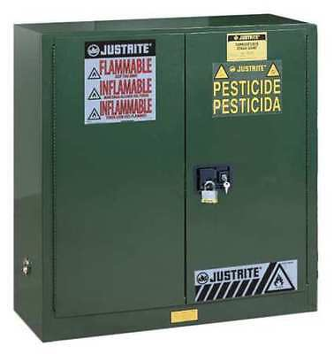 JUSTRITE 893024 Safety Cabinet,Pesticide,44In,30gal,Grn G3502655