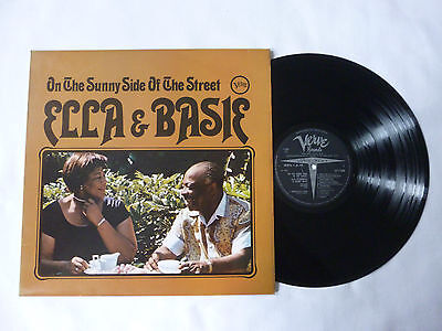 Ella Fitzgerald & Count Basie ~ On The Sunny Side Of The Street Uk Jazz Vinyl Lp