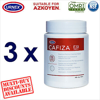 3 x Urnex 100 Cleaning Tablets Cleaner organic for Azkoyen Coffee Machine