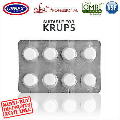 Urnex 8 Cleaning Tablets Cleaner organic for Krups Espresso Coffee Machine