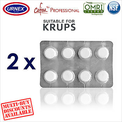 2 x Urnex 8 Cleaning Tablets Cleaner organic for Krups Coffee Machine