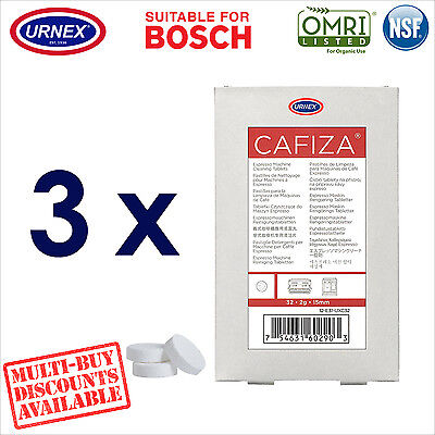 3 x Urnex 32 Cleaning Tablets Cleaner organic for Bosch Coffee Machine