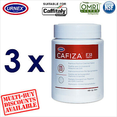 3 x Urnex 100 Cleaning Tablets Cleaner organic for Caffitaly Coffee Machine