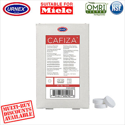 Urnex 32 Cleaning Tablets Cleaner organic for Miele Coffee Machine