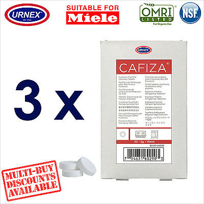 3 x Urnex 32 Cleaning Tablets Cleaner organic for Miele Coffee Machine