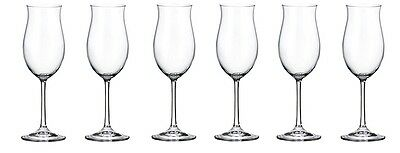 Bohemia Crystal Ellen White Wine Glasses 260 Ml Set Of 6 Goblets Lead Free