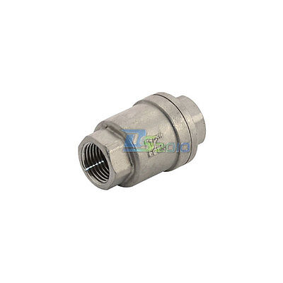 """1/2"""" Check Valve WOG 1000 Spring Loaded In-line Stainless Steel SS316 CF8M BSPT"""