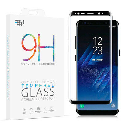 For Samsung Galaxy S8 3D Full Curved Clear Temper Glass Phone Screen Protector