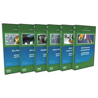 CONVERGENCE TRAINING C-065 Electrical Safety, 6 DVD Combo G3891338