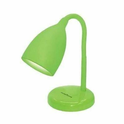 Green Adjustable Silicone Desk Table Bedside Lamp Flexible Reading Study Lamp