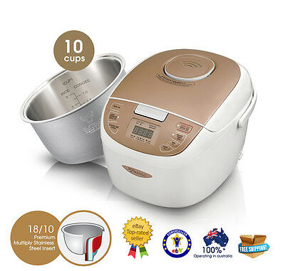 BUFFALO Enco Stainless Steel Rice Cooker (10 cups)