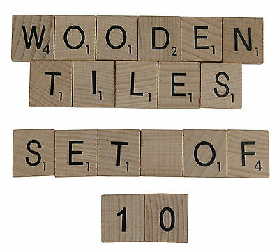 Wooden Scrabble Tiles Single Letters in Packs of 10 Free UK Del