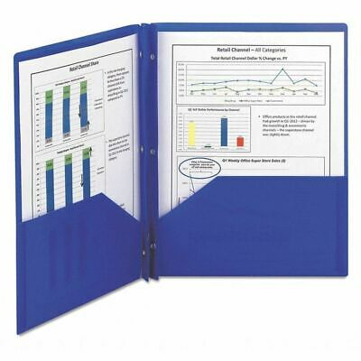 SMEAD 87726 Two Pocket File Folder, Blue, PK25