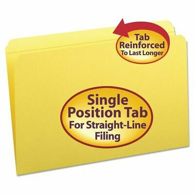 SMEAD 17910 Reinforced Tab Folder, Legal, Yellow, PK100