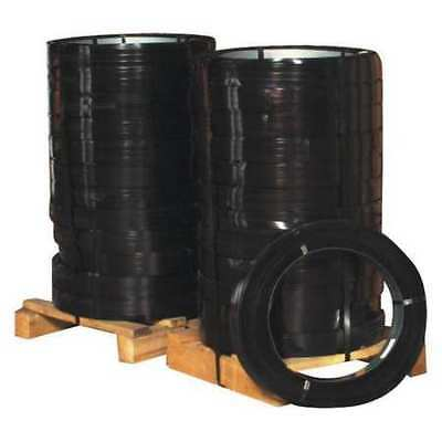 PARTNERS BRAND SS114029HT Steel Strapping,1 1/4x.029 Gx810',Blk,PK100Lbs
