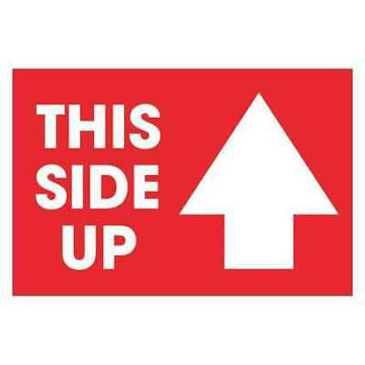 """Labels,""""This Side Up"""" Arrow,2""""x3"""",Red/White,PK500 TAPE LOGIC DL1307"""
