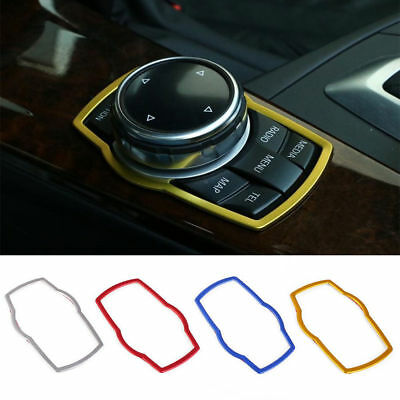 Interior Multimedia Button Cover Molding Trim for BMW 1 3 5 Series X1 X3 X5 X6