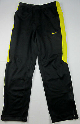 Nike Dri Fit LiveStrong Athletic Track Pants Black Yellow Accent Medium M