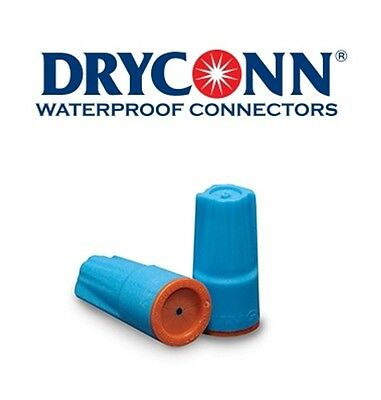 DryConn 62150 500 Pack Aqua/Orange Waterproof Connector Silicone King Innovation