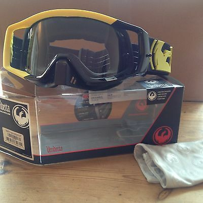 Dragon Vendetta Motocross Mx Goggles Angle Yellow Black Clear Aft Lens