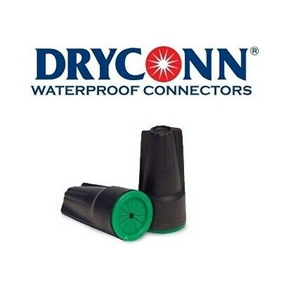 DryConn 61435 20 Pack Black/Green Waterproof Connector Silicone King Innovation