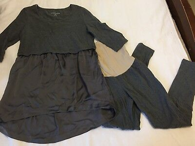 Maternity Outfit Soft Surroundings Top And Oh Baby Leggings Medium M
