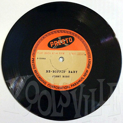 """Jimmy Roby - Be-Boppin' Baby / Wait A Little Baby 7"""" rockabilly boppers RE"""