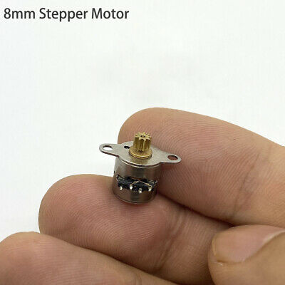 2PCS Mini 6mm 2-Phase 4-Wire Stepper Motor Micro Stepping Motor with Copper Gear