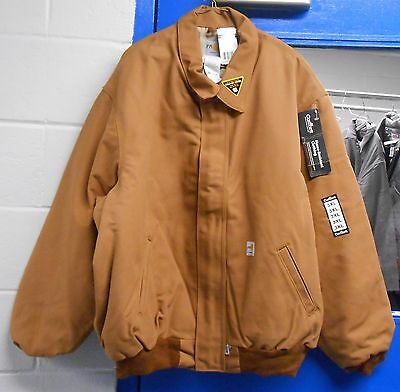 63f2292b03a CARHARTT MENS FLAME-RESISTANT Duck Bomber Jacket quilt Lined