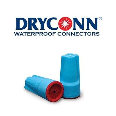 DryConn 62241 100 Pack Aqua/Red Waterproof Connector Silicone King Innovation