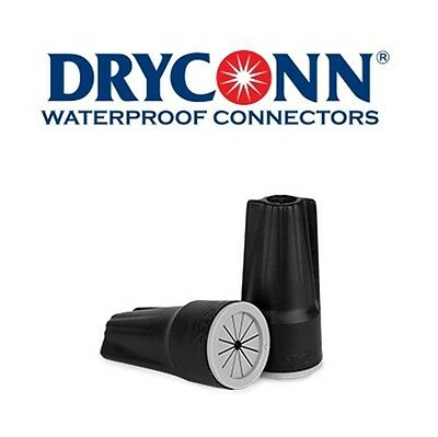 DryConn 61242 500 Pack Black/Gray Waterproof Connector Silicone King Innovation