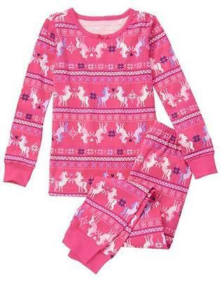 NWT Gymboree Christmas Girls Gymmies Unicorn pajamas 12 18 24M 2T,4,6,7,8,10,12