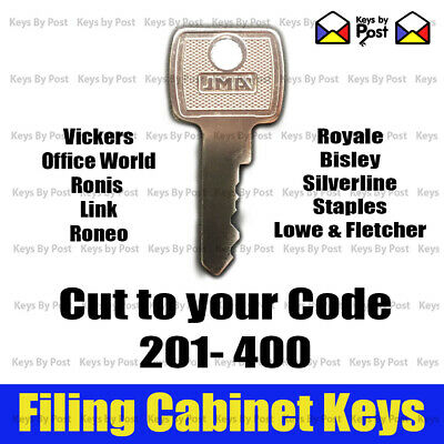 Filing Cabinet Spare Key Lowe and Fletcher, Roneo, Silverline, Staples, Triumph