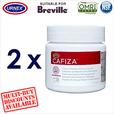 2 x Urnex Organic Cleaning Powder 125g Cleaner for Breville Espresso Machine