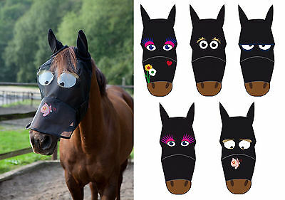 SALE! Full Face Funny Cartoon Fly Mask - Thin Polyester Ears/Nose Protection