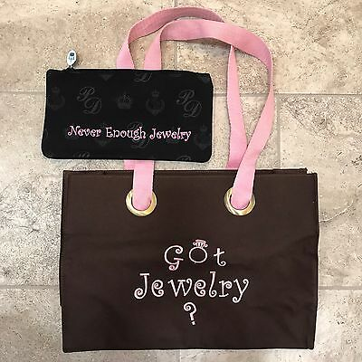 Premier Designs Jewelry Dealer Consultant travel tote and zippered money bag D19