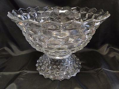 """Fostoria American: Punch Bowl and Stand, 18"""""""