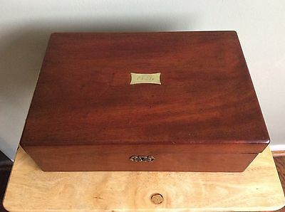 Vintage Gentleman's Writing Slope With Secret Compartments Very Old Mahogany