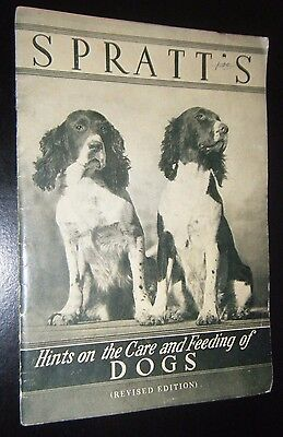 Vintage Spratt's Hints on Care & Feeding of Dogs Booklet Springer Spaniel Cover